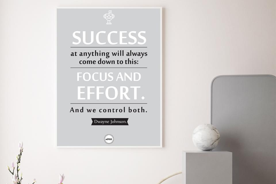 SUCCESS - FOCUS AND EFFORT - Motivate Heroes
