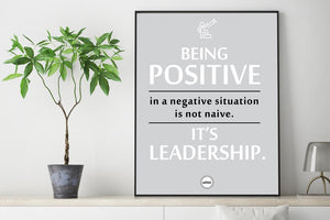 BEING POSITIVE IN A NEGATIVE SITUATION
