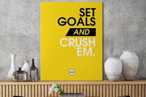 SET GOALS AND CRUSH THEM - CANVAS PRINT - Motivate Heroes