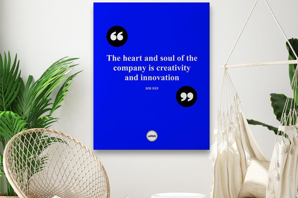 THE HEART AND SOUL OF THE COMPANY  - CANVAS PRINT - Motivate Heroes