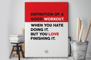 DEFINITION OF A GOOD WORKOUT - CANVAS PRINT - Motivate Heroes