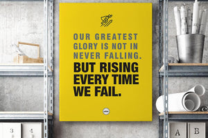 OUR GREATEST GLORY - CANVAS PRINT - Motivate Heroes