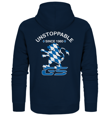GS UNSTOPPABLE - since 1980 - 40 Jahre GS Homage  - Organic Zipper Jacke