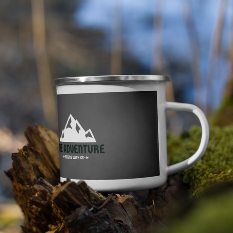 GS »THE ADVENTURE Begins with GS« Kaffee-/Teetasse Emaillebecher