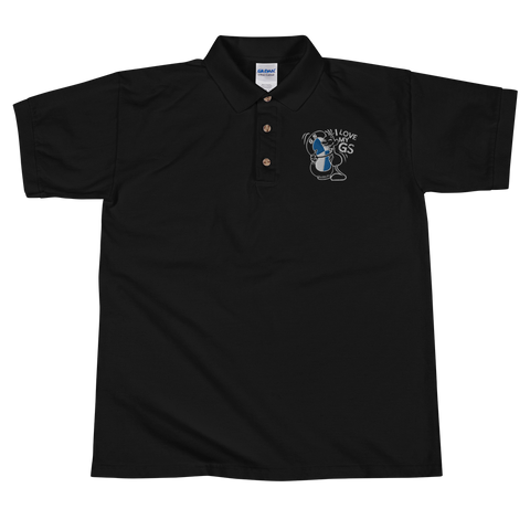 "GS ""Liebling"" - I love my GS - Edel besticktes Premium Design Polo-Shirt"