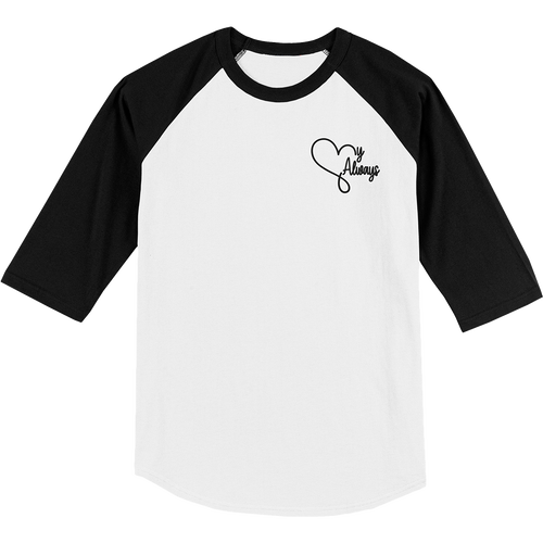 'My Always' Baseball Shirt (White/Black)