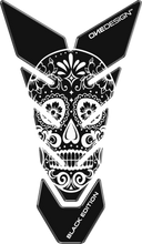 "Load image into Gallery viewer, TANK PAD ""MEXICAN SKULL"" BLACK/WHITE - Onedesign Corp"
