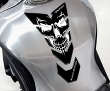 "Load image into Gallery viewer, TANK PAD ""FLAMING SKULL"" BLACK/WHITE - Onedesign Corp"