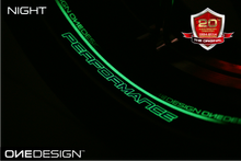 "Load image into Gallery viewer, WHEEL STRIP DCRW ""PERFORMANCE"" GLOW IN THE DARK (VARIOUS COLORS) - Onedesign Corp"