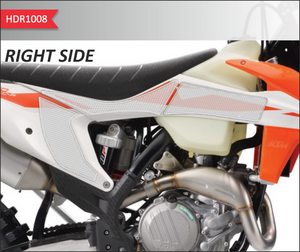 2018-19 KTM 120/150/250/300/350/450/SF/SX/SX-F/XC/XC-F HDR SIDE PAD TRANSPARENT(VARIOUS MODELS) - Onedesign Corp