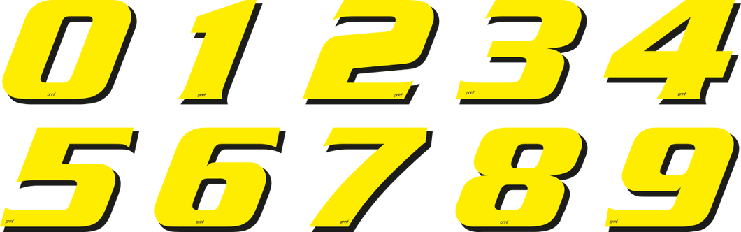 RACING NUMBERS DECAL KIT