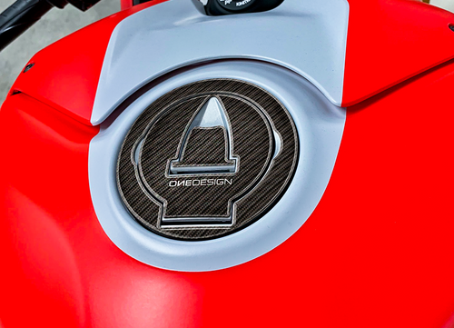 DUCATI GAS CAP PROTECTOR (FITS VARIOUS MODELS 2009+) BACK ORDER TEST SKU