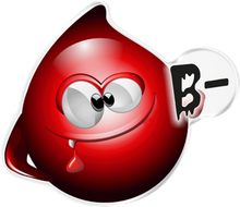Load image into Gallery viewer, 3D BLOOD TYPE DECALS (ALL BLOOD TYPES) - Onedesign Corp
