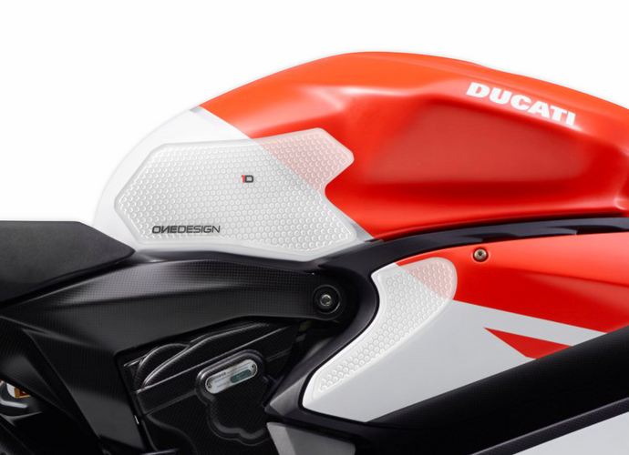 DUCATI PANIGALE 899-959 / 1199-1299 HDR SIDE PAD TRANSPARENT (FITS VARIOUS YEARS) - Onedesign Corp