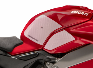 DUCATI PANIGALE V4 HDR SIDE PAD TRANSPARENT (FITS VARIOUS V4 MODELS) - Onedesign Corp