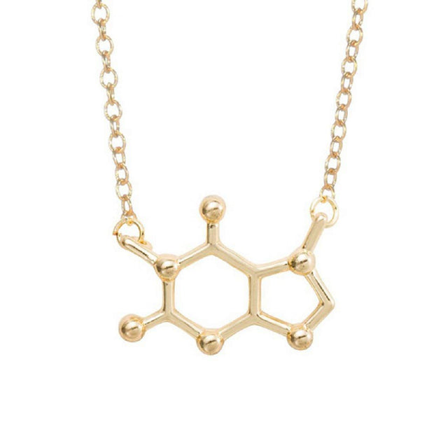 Caffeine Molecule Necklace