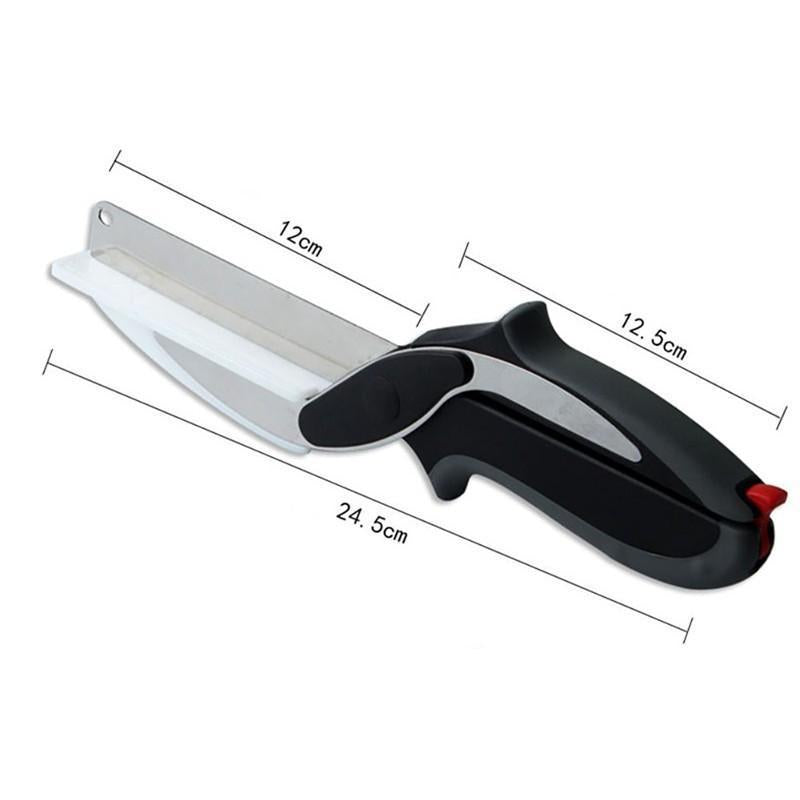 2-IN-1 KNIFE AND CUTTING BOARD