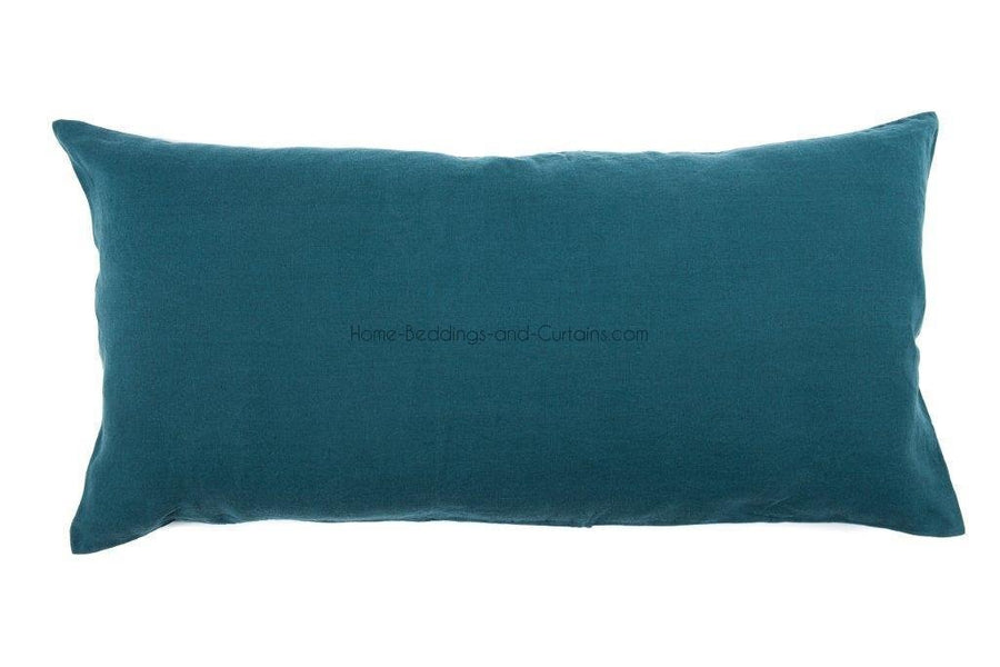 19 coloris dispos - Harmony - Housse de coussin en lin Giant Viti - 55x110 cm - Home Beddings and Curtains