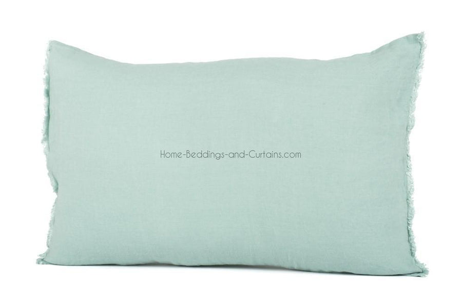 19 coloris dispos - Harmony - Housse de coussin en lin rectangulaire Viti - 40x60 cm - Home Beddings and Curtains