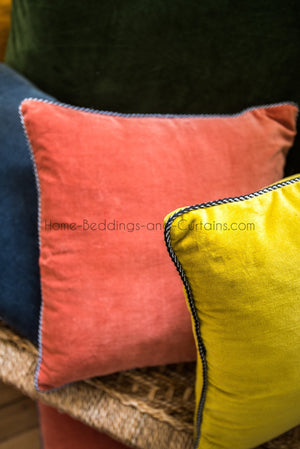 8 coloris disponibles - Harmony - Housse de coussin en velours Delhi - 45x45 cm - Home Beddings and Curtains