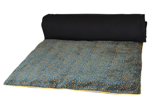 2 colours - Harmony - Isis velvet bed runner, quilt cover - 85x200 cm