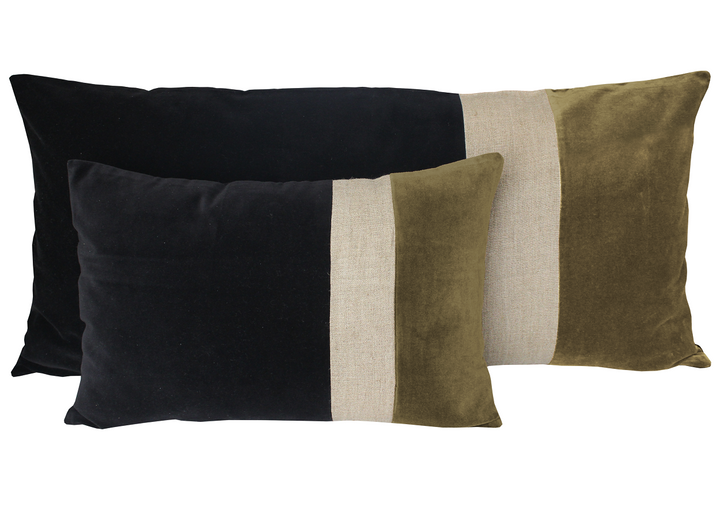 3 colours - Harmony - Bundi velvet cushion cover - 40x60 cm
