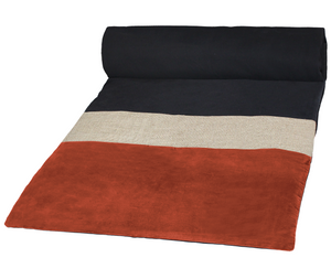 4 colours - Harmony - Bundi velvet bed runner, quilt cover - 85x200 cm