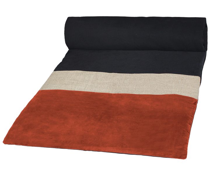 3 colours - Harmony - Bundi velvet bed runner, quilt cover - 85x200 cm
