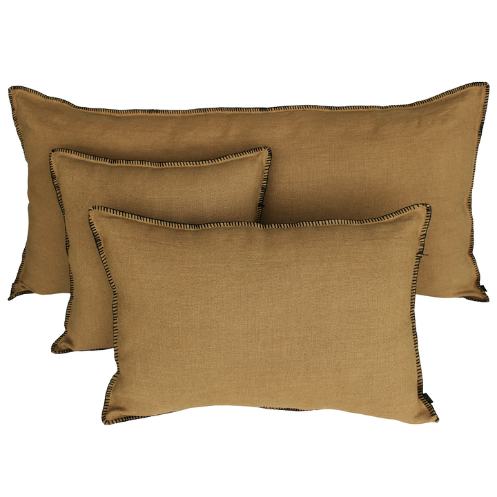 15 colours - Harmony - Mansa linen cushion cover - 40x60 cm - rectangular