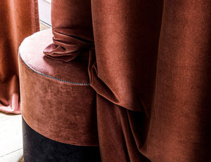 10 colours - Harmony - Delhi velvet curtain - 135x300 cm