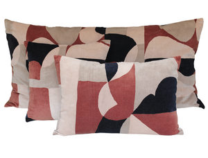 3 colours - Harmony - Arty velvet cushion cover - 45x45 cm or 40x60 cm