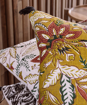 3 colours - Harmony - Kerala linen cushion cover - 45x45 cm or 40x60 cm