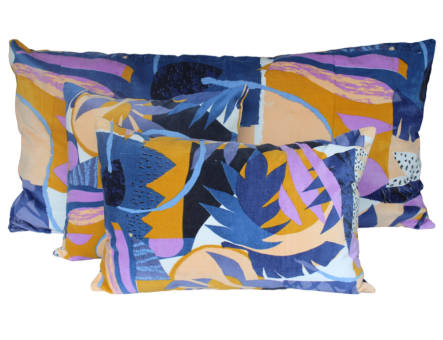 3 colours - Harmony - Papercut velvet cushion cover - 45x45 cm or 40x60 cm