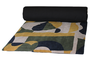 3 colours - Harmony - Arty velvet bed runner, quilt cover - 85x200 cm