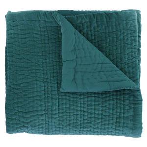 12 colours - En-fil-dindienne - Vague velvet bed throw - 160x160 cm