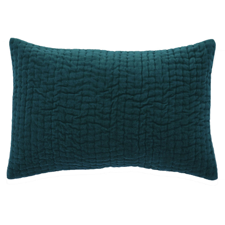 10 colours - En-fil-dindienne - Vague velvet cushion - 30x45 cm