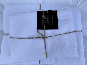 9 colours- Harmony - Viti linen fitted sheet - 100% linen