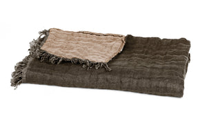 10 colours - Harmony - Baya linen bed throw- 135x200 cm