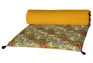 3 colours - Harmony - Kerala linen bed runner, quilt cover - 85x200 cm