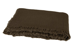 3 colours - Harmony - Vanly coton bed throw - 130x180 cm