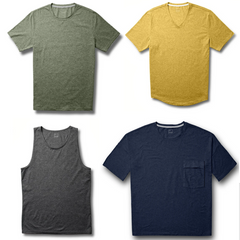 proto101 men's olive green classic slim crewneck t-shirt, men's mustard yellow vneck long t-shirt relaxed fit, proto101 men's classic tank heather gray/grey, men's oversized t-shirt with pocket in navy