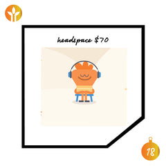 Headspace gift card men's gift guide 202
