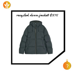 men's recycle down puffer