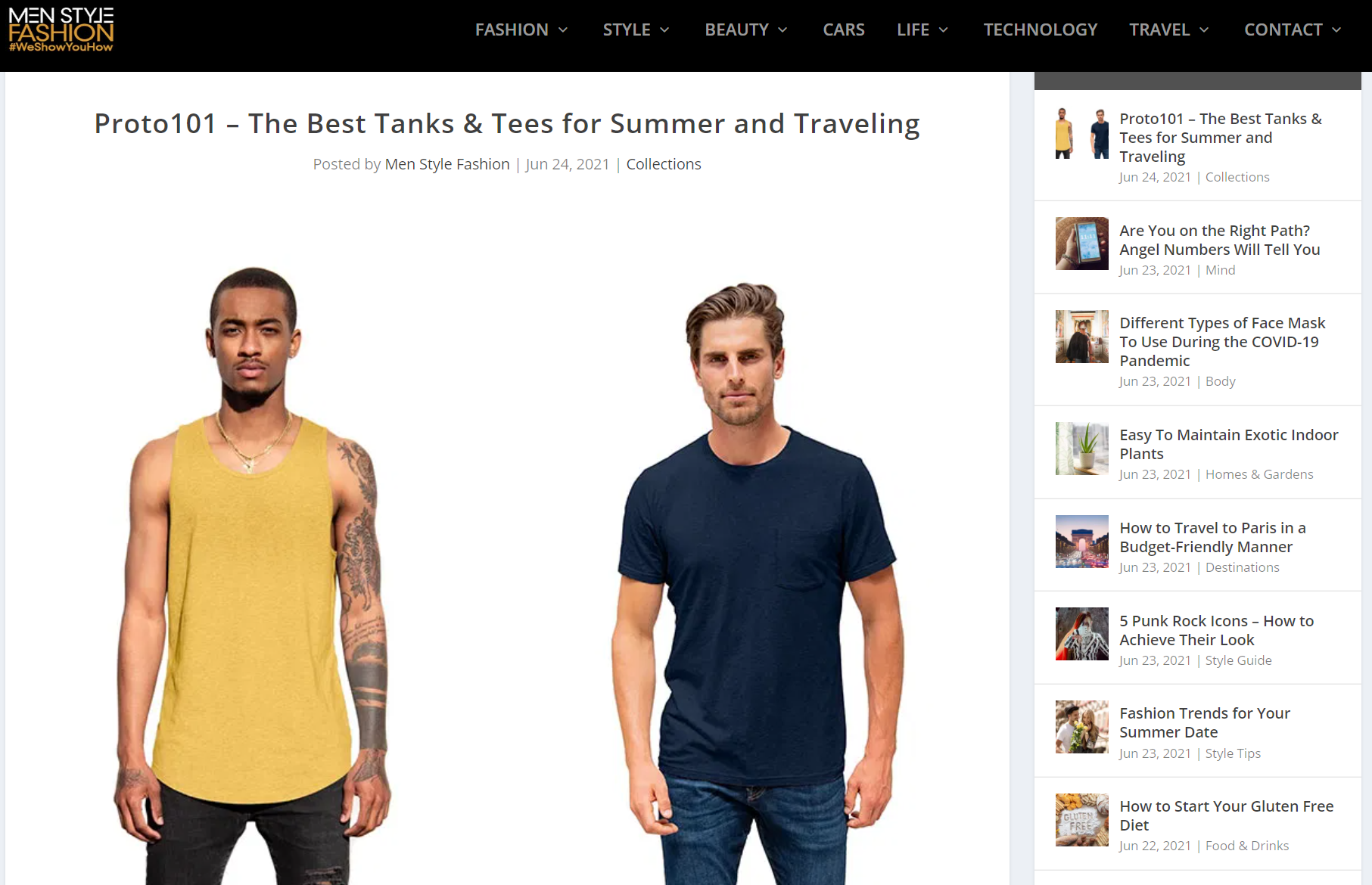 best tanks and tees for summer travel