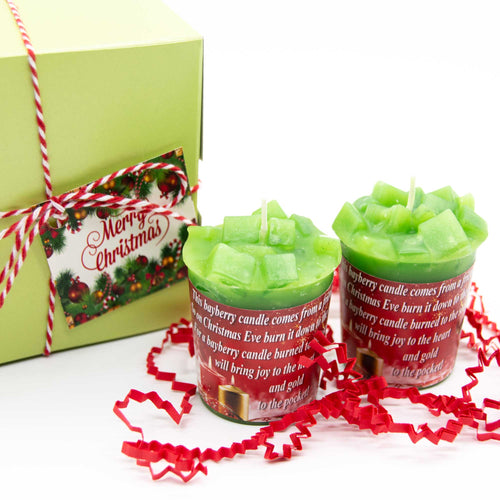 Christmas Candles-Bayberry Candles-Christmas Gift Idea- Free Shipping