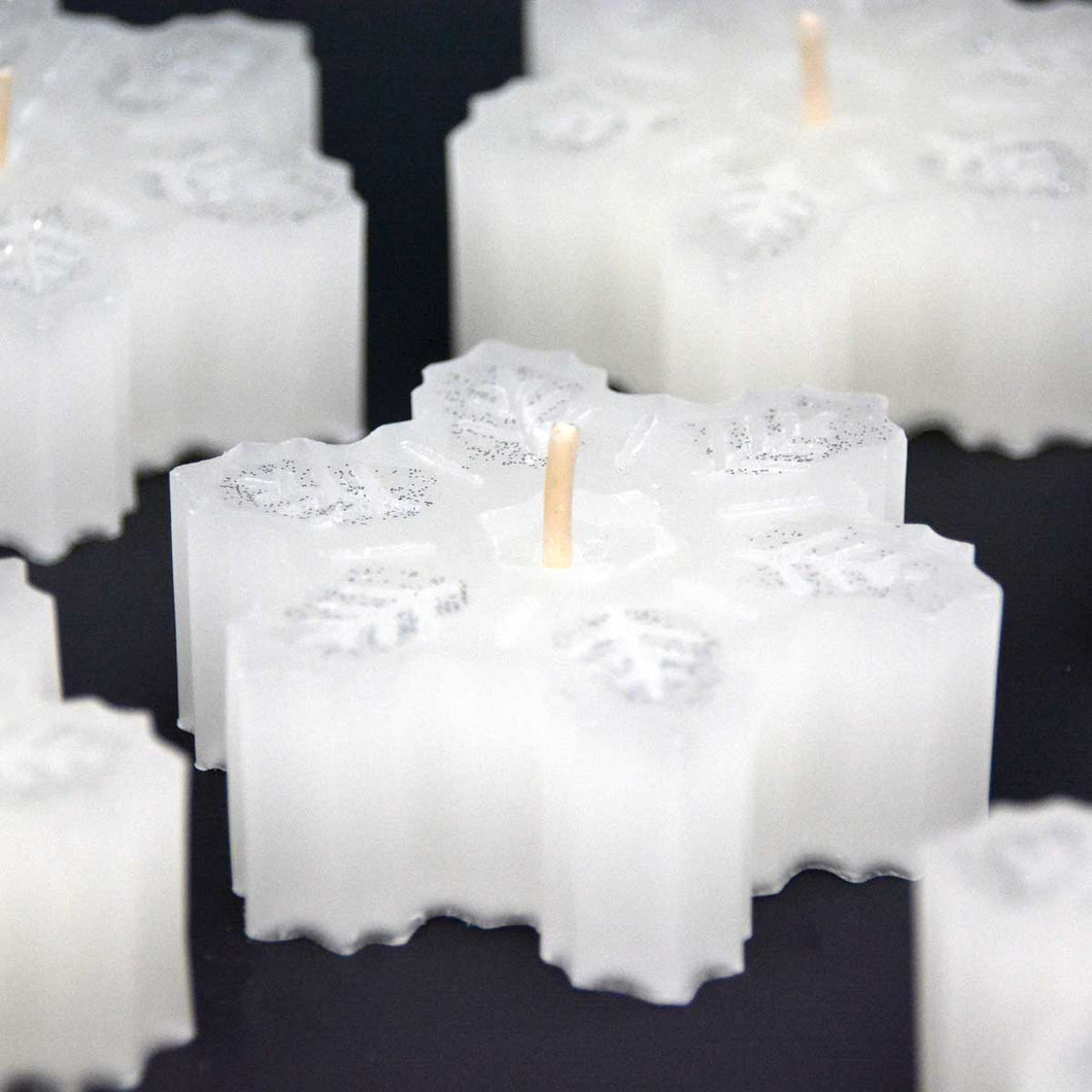 Snowflakes Votive Candles Winter Wonderland