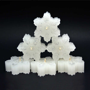 Christmas Snowflakes Candles Winter Wonderland-Free Shipping