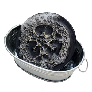 Charcoal Olive Oil Loofah Soap- Dragon's Blood