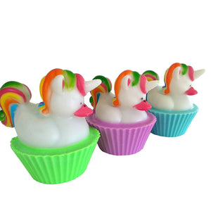 Unicorn Cupcake Shea Butter Soap - Baby Powder