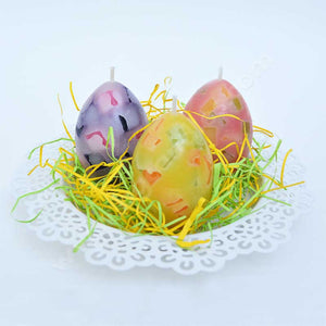 3 Easter Eggs Candles - Birds of Paradise